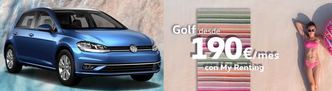 Volkswagen Golf desde 190€/mes agosto 2019
