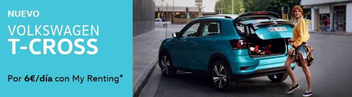 Volkswagen T-Cross por 6€ al día con my renting